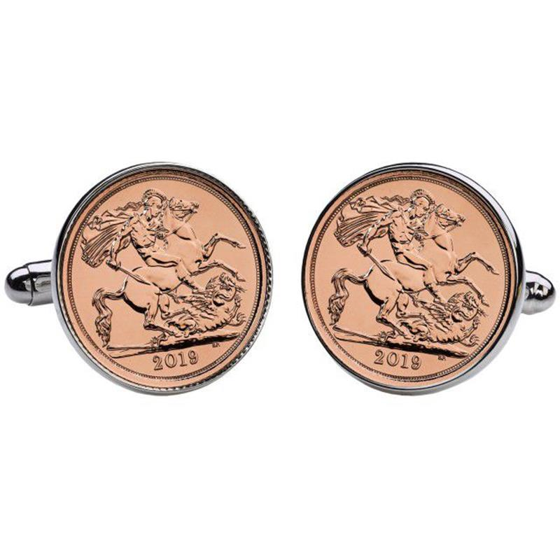 Half Sovereign Gold Cufflinks - The Royal Mint