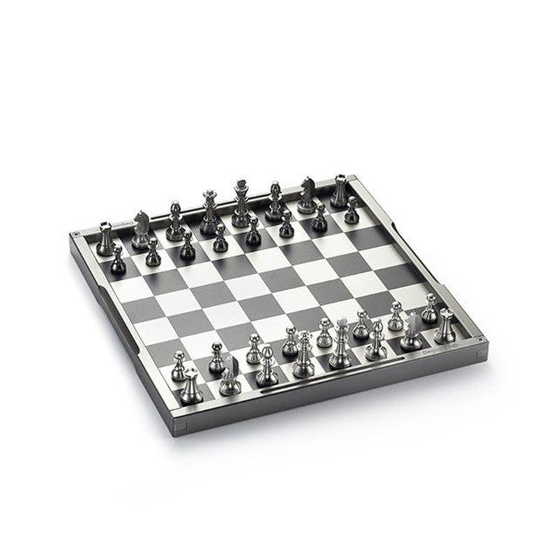 Silver Chess and Draughts Set